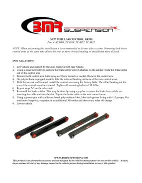 BMR Installation Instructions for ACA004