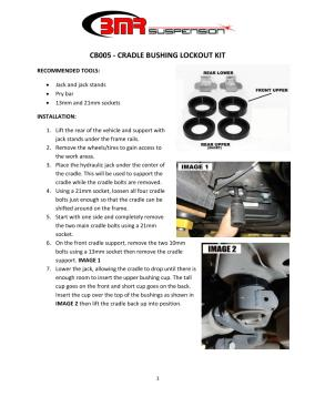 BMR Installation Instructions for CB005