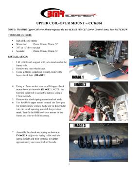 BMR Installation Instructions for CCK004