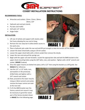 BMR Installation Instructions for CCK007
