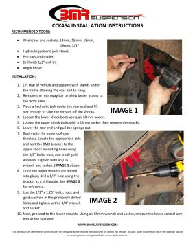 BMR Installation Instructions for CCK464