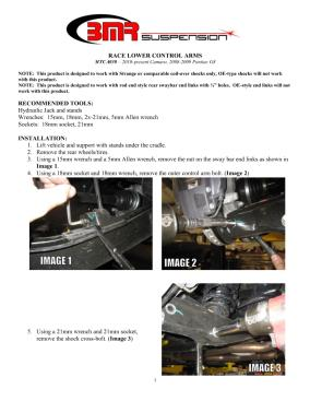 BMR Installation Instructions for MTCA030