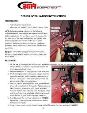 BMR Installation Instructions for SCB110