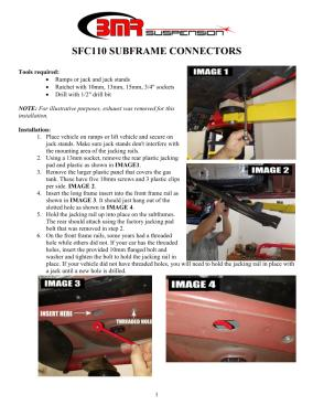 BMR Installation Instructions for SFC110