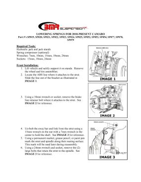 BMR Installation Instructions for SP077