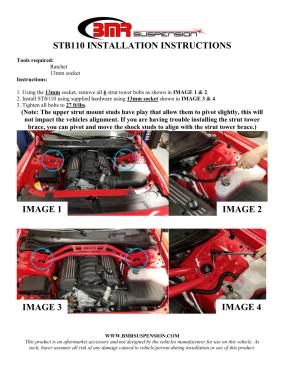 BMR Installation Instructions for STB110